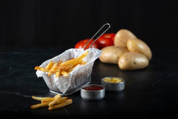 French fries. restaurant,