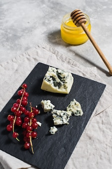 French gorgonzola, honey.