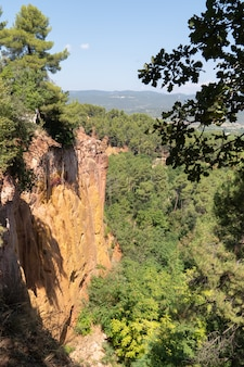 French ochres valley in the nature park of luberon