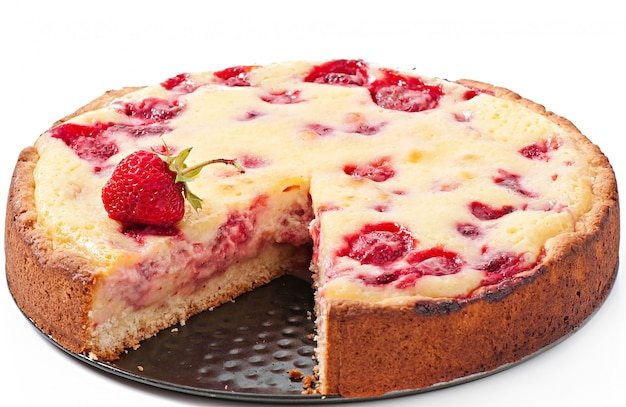 French pie with strawberries