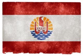 French polynesia grunge flag  polynesia
