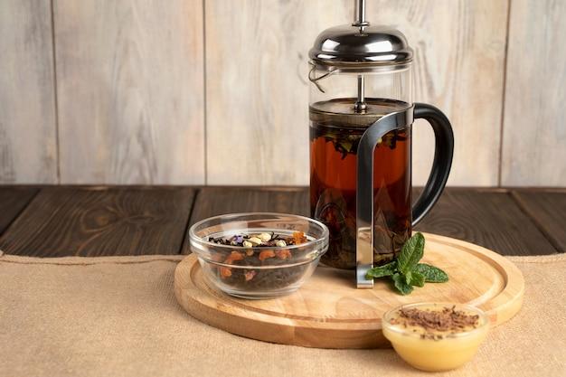 紅茶と蜂蜜のフレンチプレス