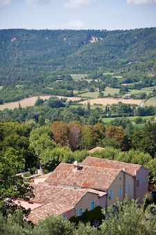 Вид французского городка сверху