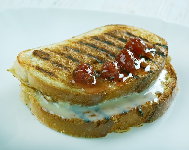 French toast - dish made of bread soaked in beaten eggs and then fried. finnish style rikkaat ritarit