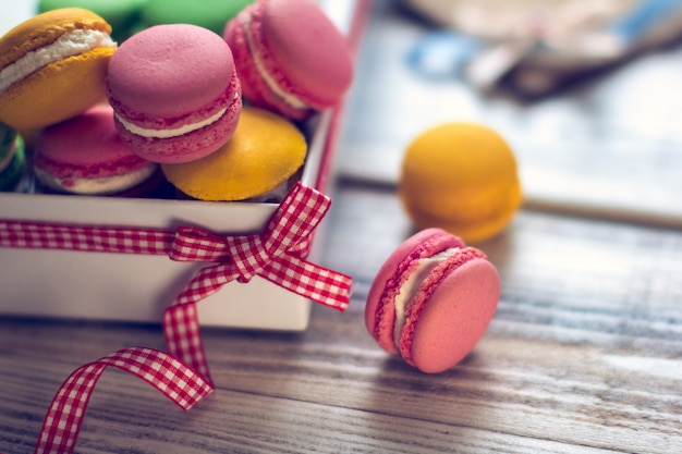 The french tradition - colorful macaroons