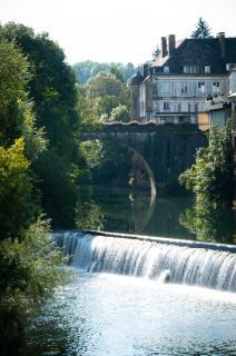 French village  river