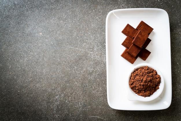ココアケーキ入りのフレッシュでソフトなチョコレート