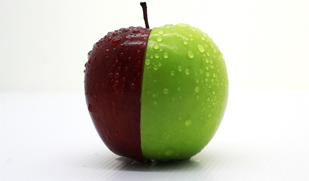 Fresh apple red green photoshoot