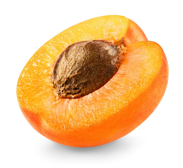 Свежий абрикос, изолированные на белом фоне