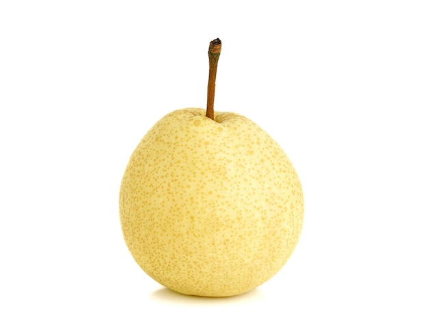 Fresh asian pear fruit isolated on the white background