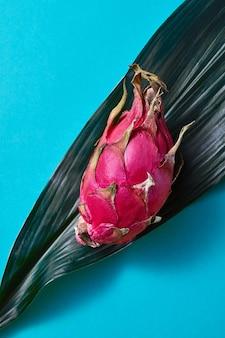 Fresh asian pink dragon fruit