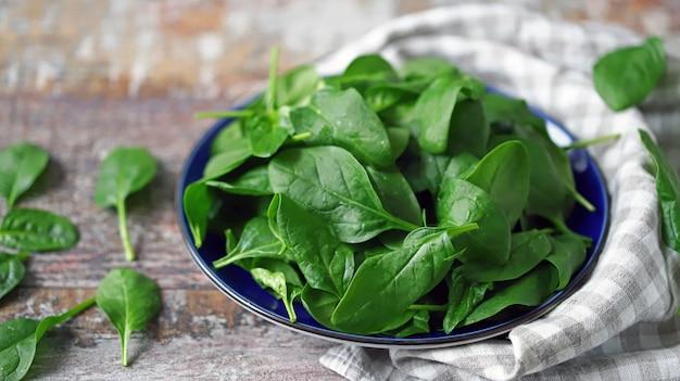 Fresh baby spinach.