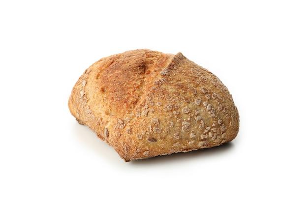 白で隔離された焼きたてのパン