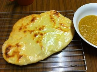 Fresh baked naan bread