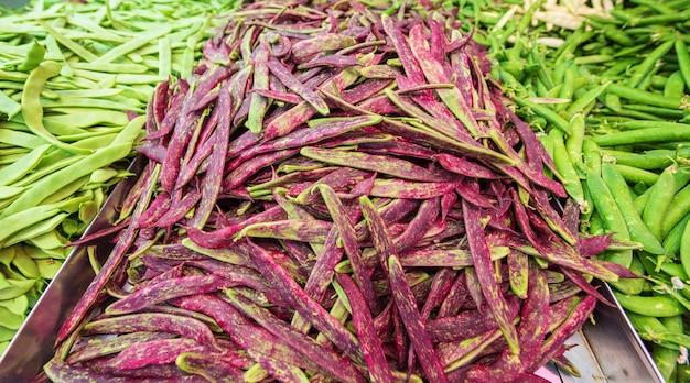 Fresh bean vegetables