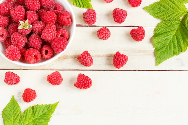 Fresh berries background copy space for your text.