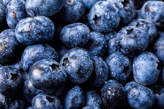 Fresh blueberries.