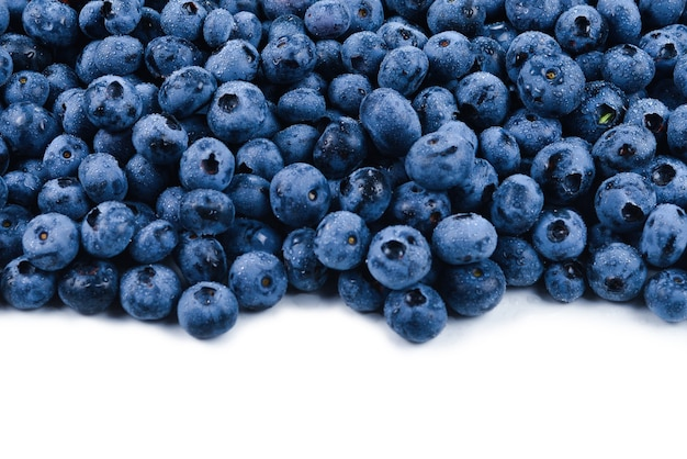 Fresh blueberry background. blueberry berries close up.