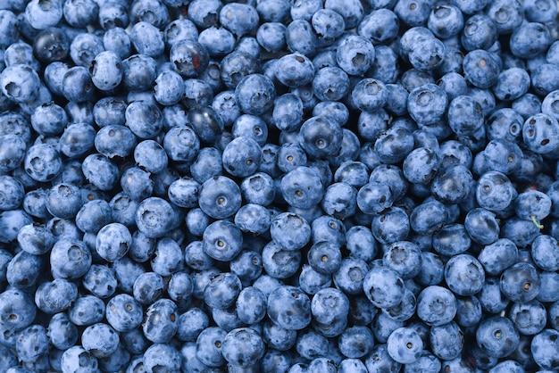 신선한 블루 베리 배경입니다. 텍스처 블루 베리 열매를 닫습니다.