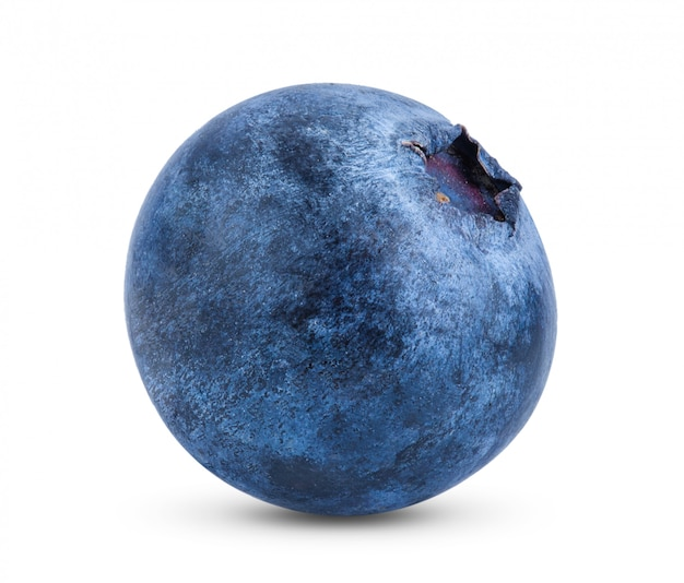 Fresh blueberry on white table