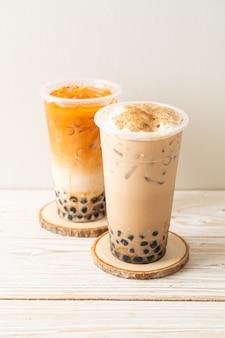 Свежий кофе боба или пузырьковый чай