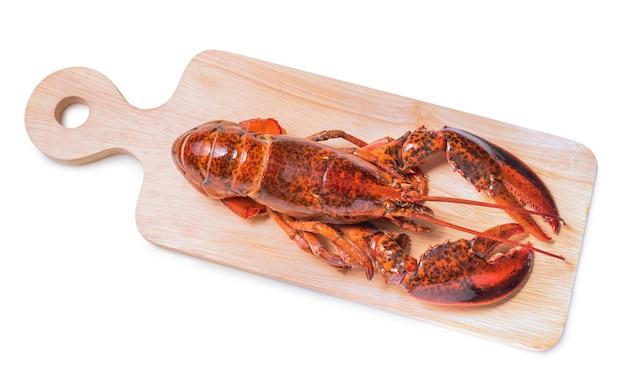 Fresh boiled crayfish on white isolated background