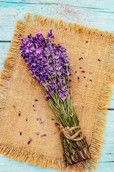 A fresh bouquet of fragrant lavender