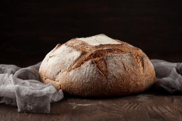 Fresh bread in rustic style
