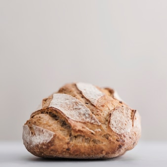 Fresh bread with white background