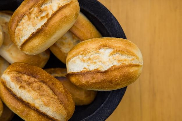 かごの中の焼きたてのパン