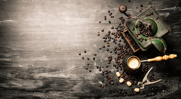 Fresh brewed coffee pot