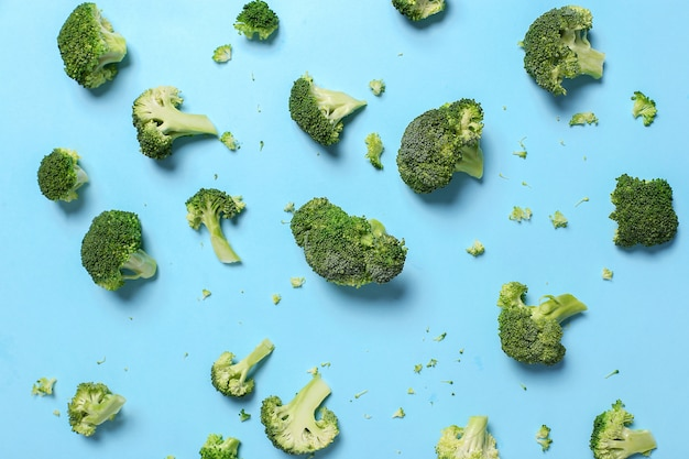 Свежие овощи брокколи фон