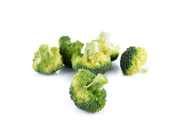 Fresh brocoli on white wall