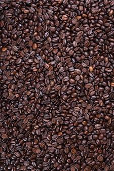 신선한 갈색 커피 콩 질감 배경