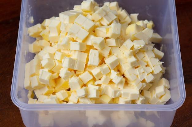 Свежее масло для ингредиентов печенье домашнее