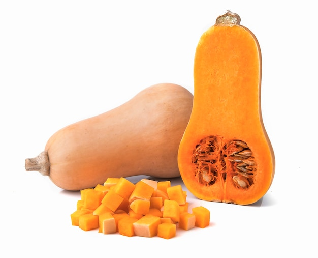 Fresh butternut squash isolated