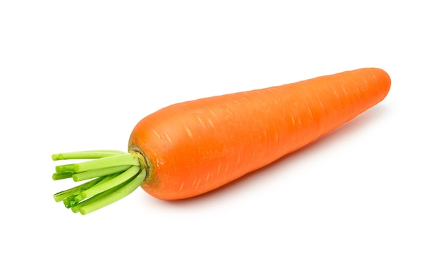 Fresh carrot isolated on white background, clipping path.