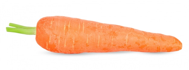 Fresh carrot isolated on white clipping path