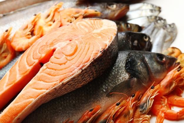 魚やその他のシーフードの新鮮な獲物