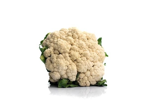 Fresh cauliflower isolated on white background
