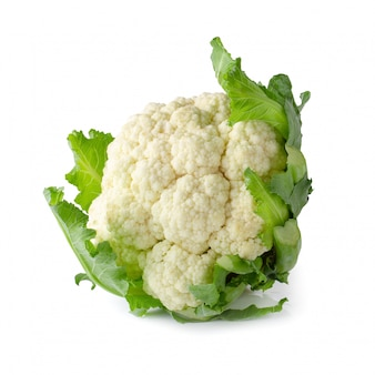Fresh cauliflower isolated over a white background