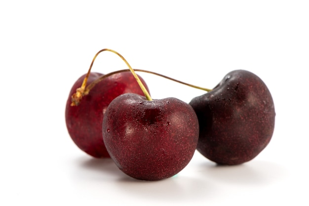 Fresh cherry isolated on white background