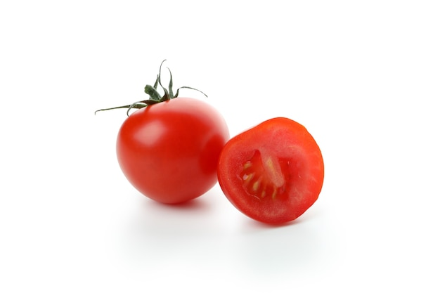 Fresh cherry tomato isolated on white