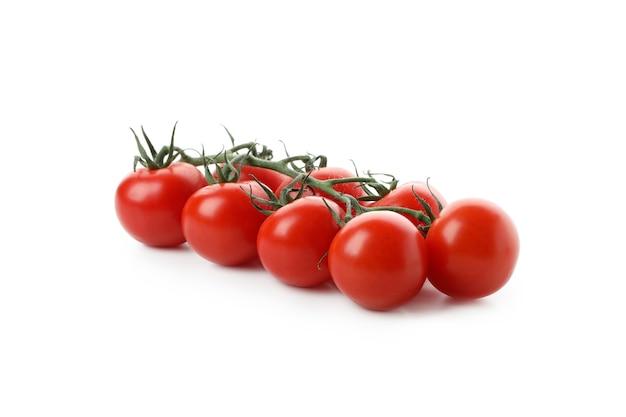 흰색 배경에 고립 된 신선한 체리 토마토