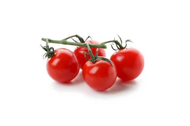 Fresh cherry tomatoes isolated on white