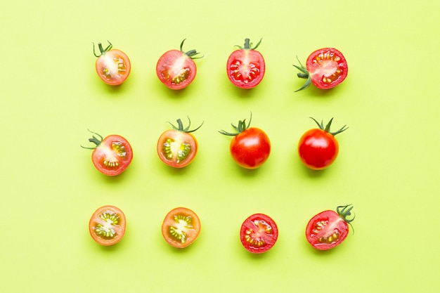 Fresh cherry tomatoes, whole and slices
