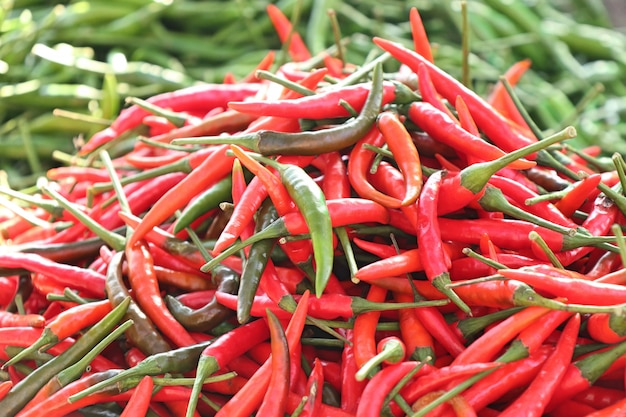 Fresh chilli at market
