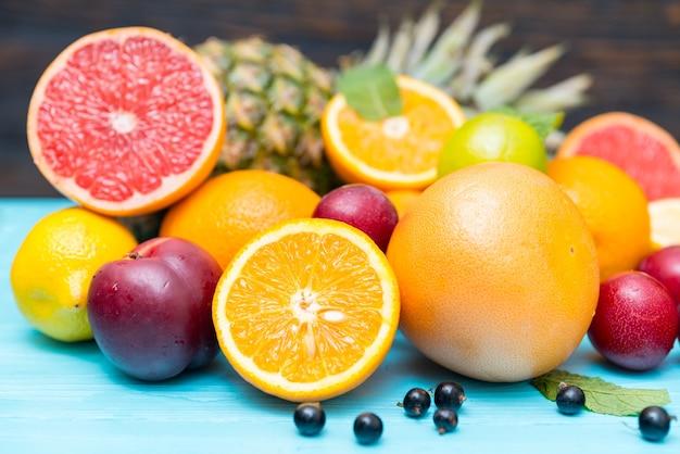 Свежие цитрусовые и тропические фрукты для здорового питания