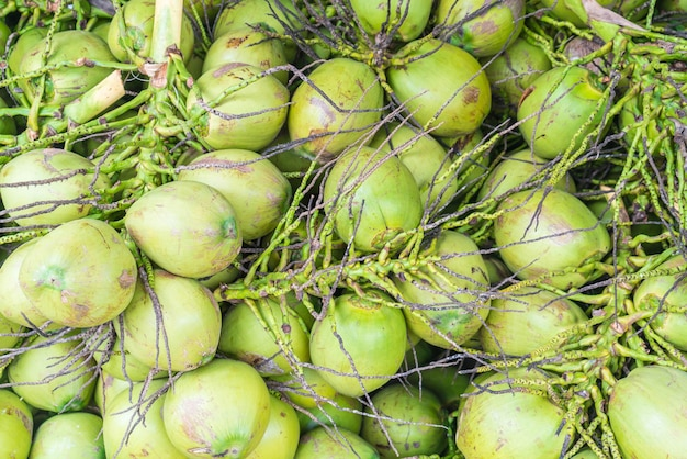 Fresh coconuts for background