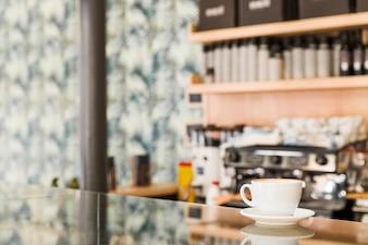 Fresh coffee in coffee shop